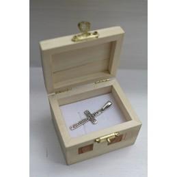 Krzyż srebrny - Bóg, honor,...